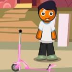 Boy Skate Scooter Escape