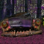 Abandoned Cars in Forest Escape