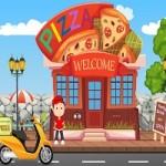 Pizza Motorbike Escape Game