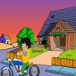 Cute Boy Motorcycle Escape Game